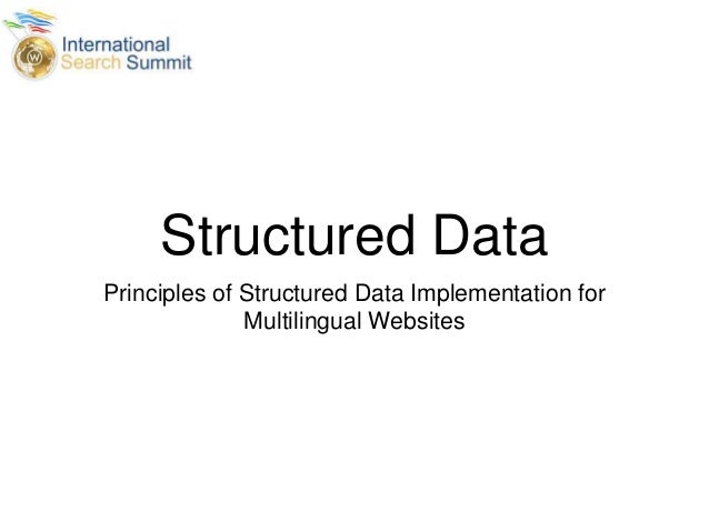 Structured Data Principles of Structured Data Implementation for Multilingual Websites