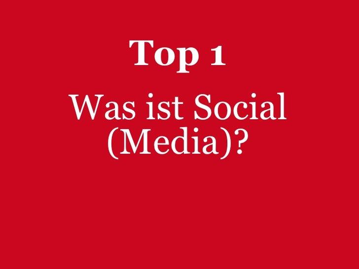 Kernanforderungen an Social Media Kommunikation