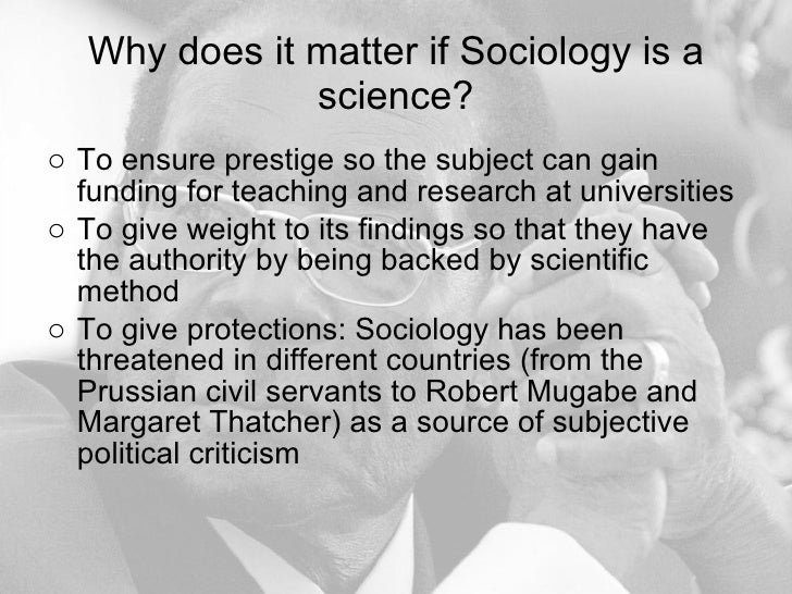 why is sociology a science