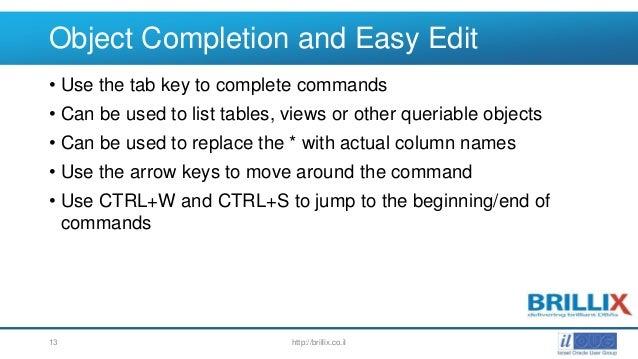 Sqlplus set output options key