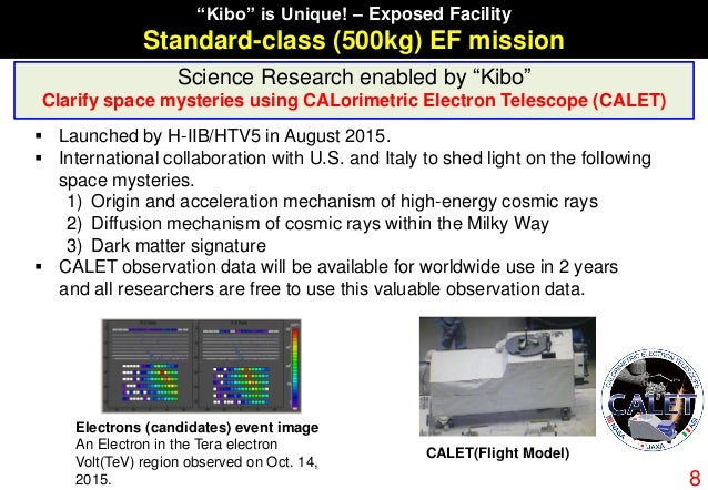 """""""Kibo"""" is Unique! – Exposed Facility Standard-class (500kg) EF mission Science Research enabled by """"Kibo"""" Clarify space my..."""
