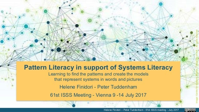 Pattern Literacy in support of Systems Literacy Learning to find the patterns and create the models that represent systems...