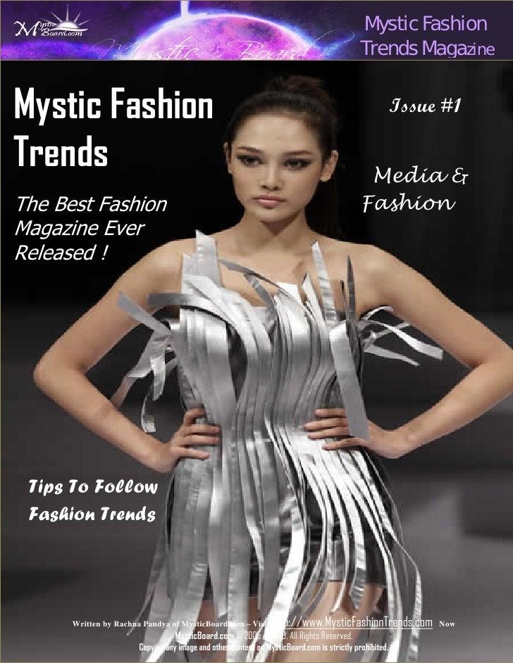Mystic Fashion Trends Magazine Issue 1