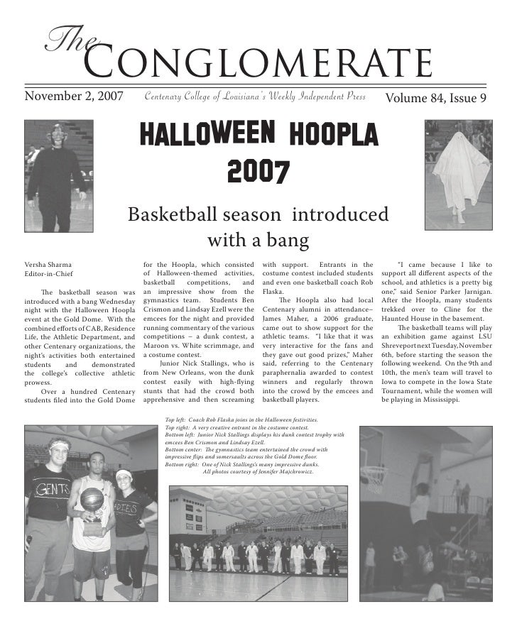 The                   Conglomerate November 2, 2007                                                                       ...