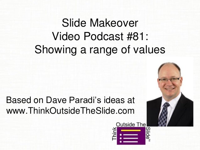 Slide Makeover Video Podcast #81: Showing a range of values Based on Dave Paradi's ideas at www.ThinkOutsideTheSlide.com