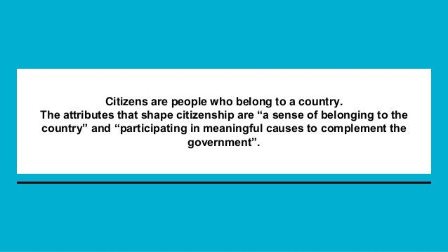 Attainment of citizenship - HOW?