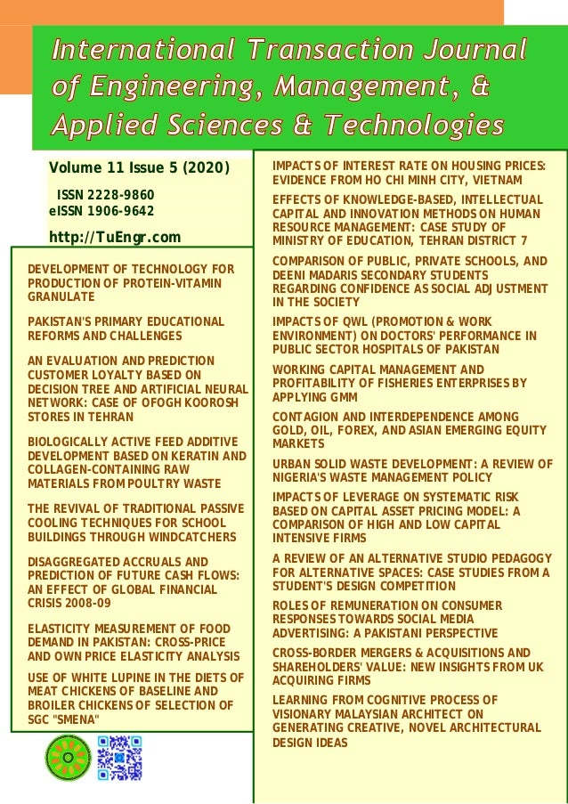 Volume 11 Issue 5 (2020) ISSN 2228-9860 eISSN 1906-9642 http://TuEngr.com DEVELOPMENT OF TECHNOLOGY FOR PRODUCTION OF PROT...