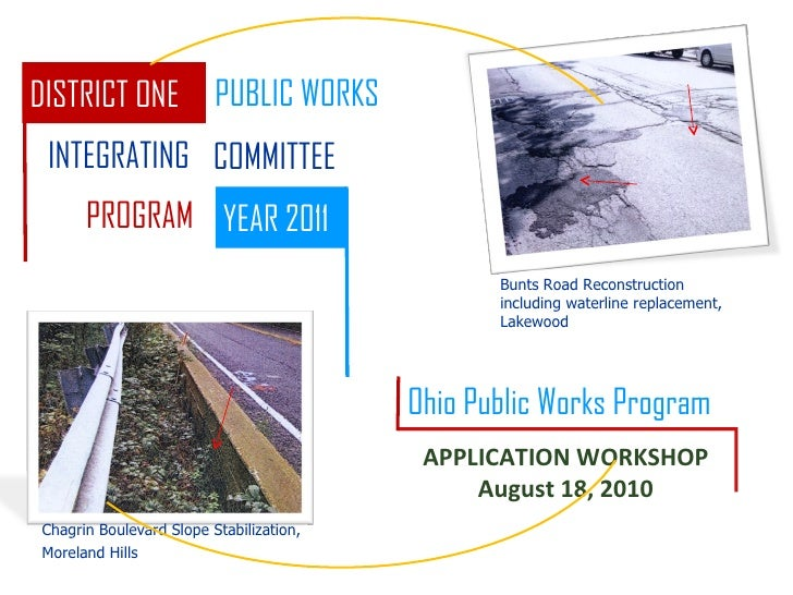 Bunts Road Reconstruction including waterline replacement, Lakewood Chagrin Boulevard Slope Stabilization, Moreland Hills ...