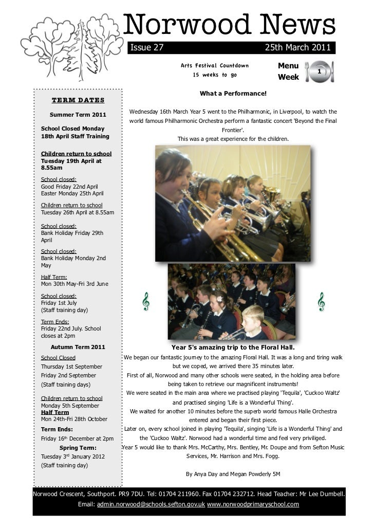 Norwood News                                    Issue 27                                               25th March 2011    ...