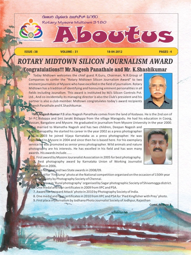 ISSUE : 38                VOLUME : 31                       18-04-2012                            PAGES - 4ROTARY MIDTOWN ...