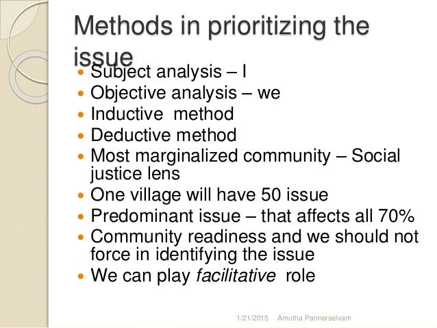 Developing plan to identify community issues