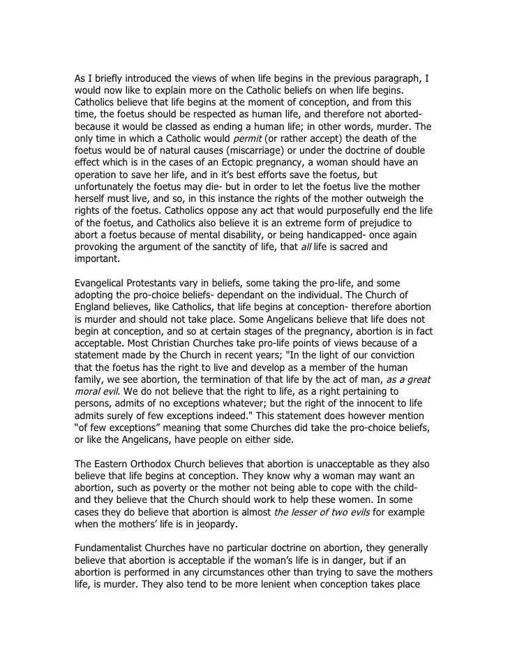 essay of abortion