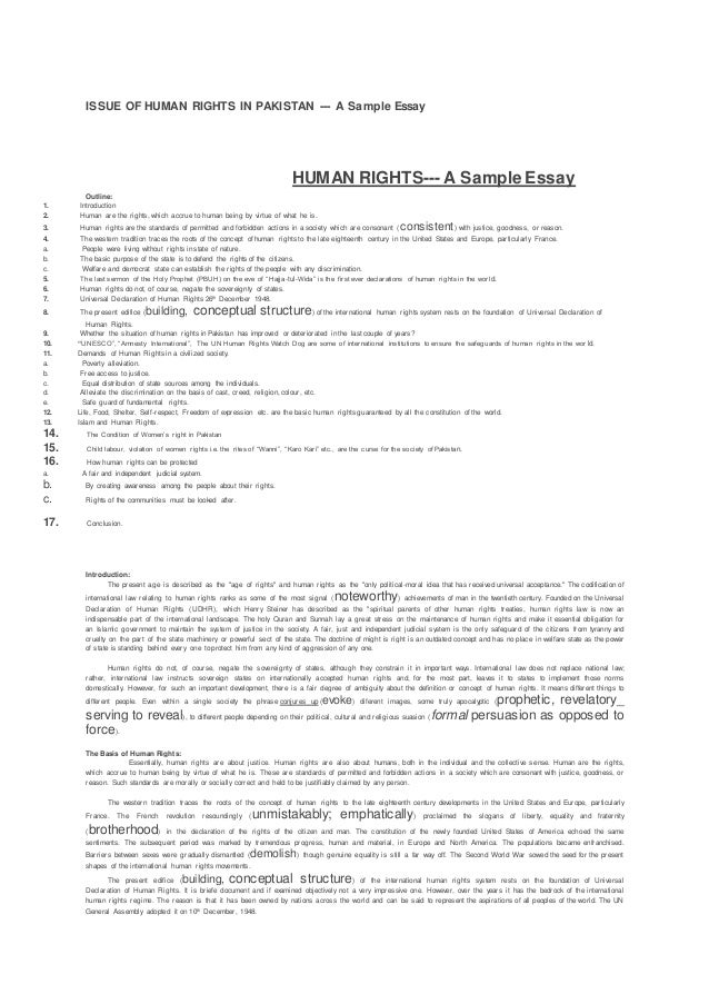 Essay issues related human rights,