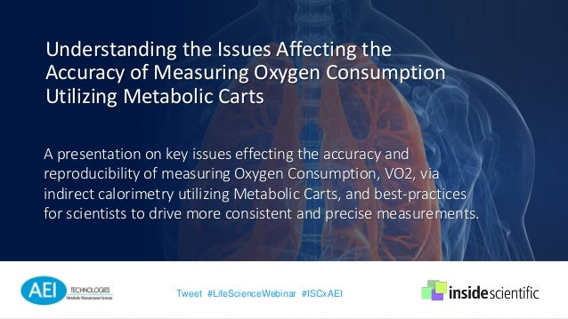 A presentation on key issues effecting the accuracy and reproducibility of measuring Oxygen Consumption, VO2, via indirect...