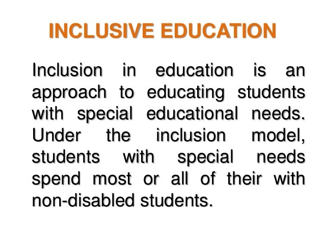 concerns of inclusion This study examined the concerns of regular elementary school teachers in gurgaon, india, in order to work with students with disabilities in inclusive education settings a total of 175 teachers responded to a two-part questionnaire data were analyzed using descriptive and inferential statistics.