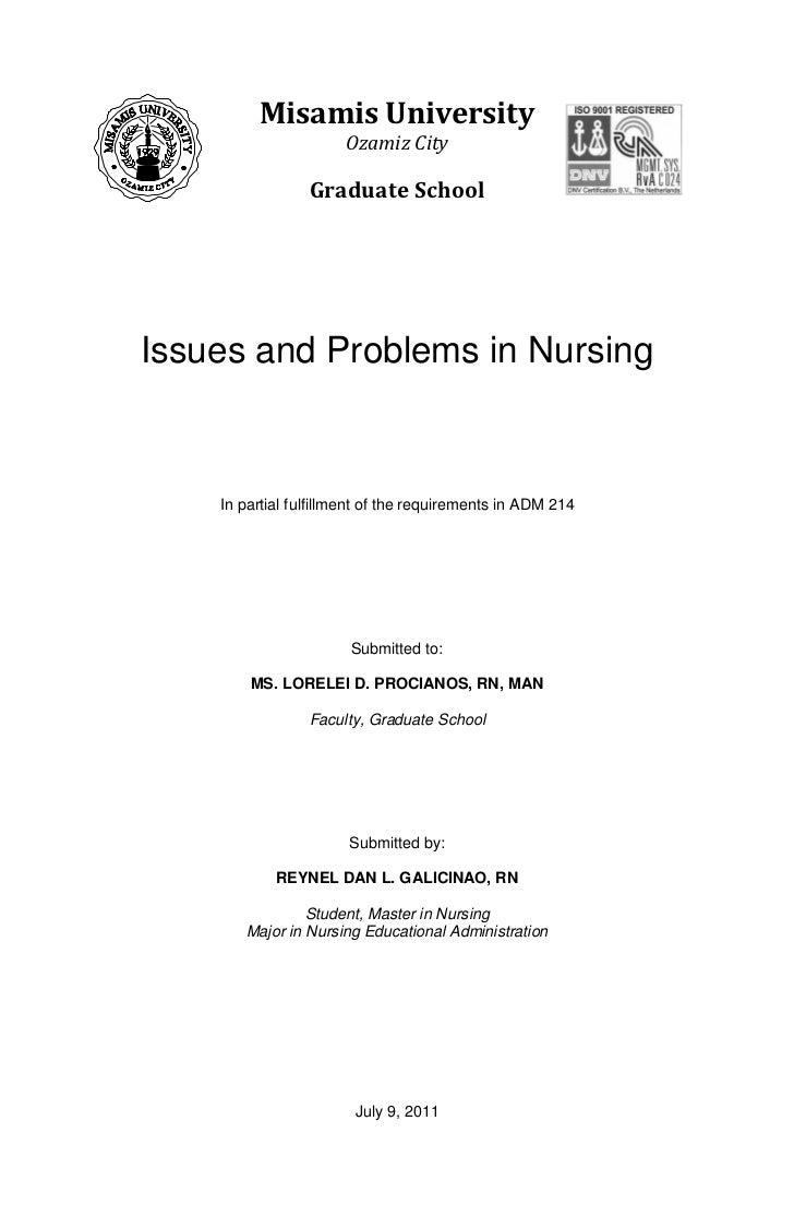 Masters thesis nursing