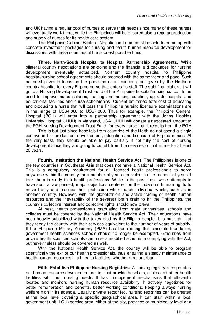 Issues and challenges facing nurses nursing essay