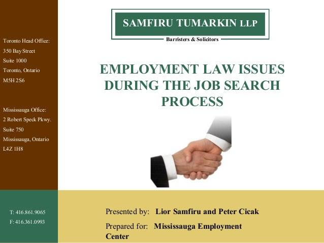 1 Barristers & Solicitors SAMFIRU TUMARKIN LLP Toronto Head Office: 350 Bay Street Suite 1000 Toronto, Ontario M5H 2S6 Mis...