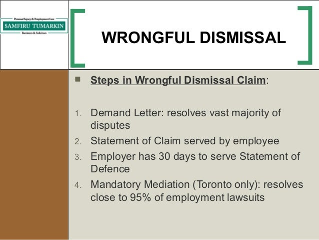 Employment law issues during job search wrongful dismissal spiritdancerdesigns Gallery
