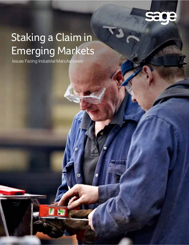 Staking a Claim in Emerging Markets Issues Facing Industrial Manufacturers