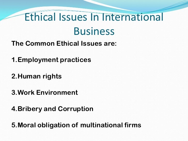 Ethical Issues In Workplace