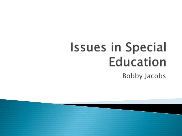 the issue of bias in special education Education week retains sole editorial control over the content of this coverage vol 35 , issue 10 , pages 1, 13-15 published in print: october 28, 2015, as fighting subtle bias.
