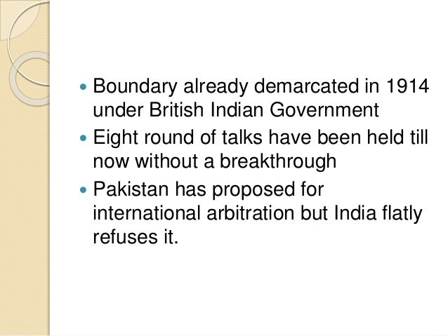 Issues of conflict between india and pakistan Slide 3