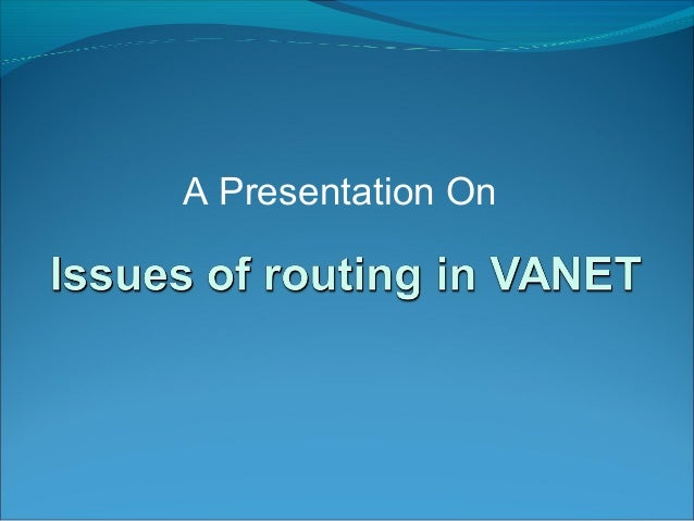 A Presentation On