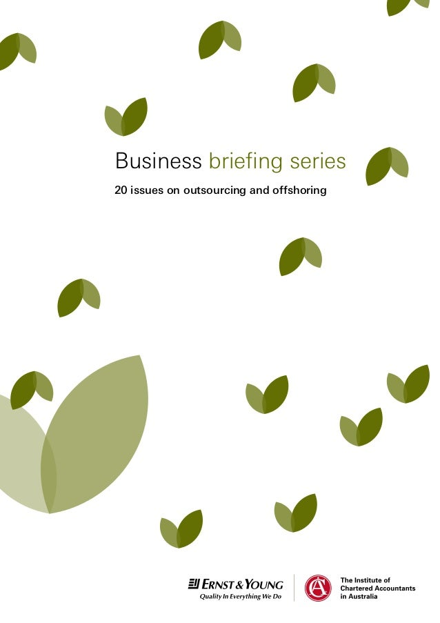 20 issues on outsourcing and offshoring Business briefing series