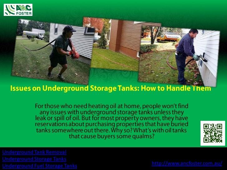 Underground Tank RemovalUnderground Storage TanksUnderground Fuel Storage Tanks   http://www.ancfoster.com.au/