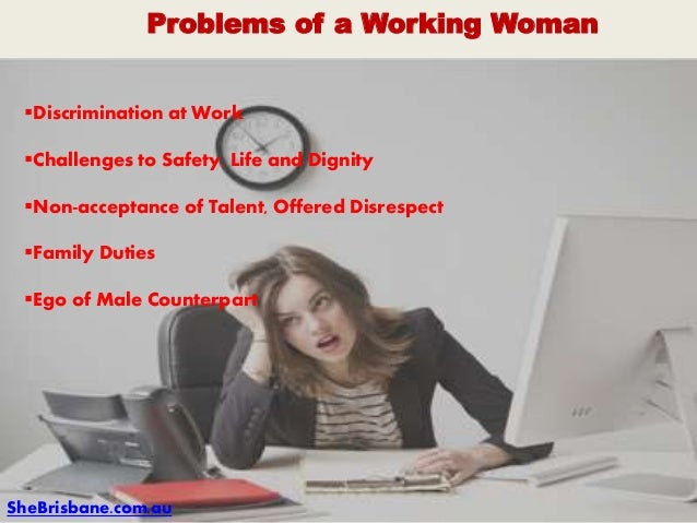 problems of working womens pdf
