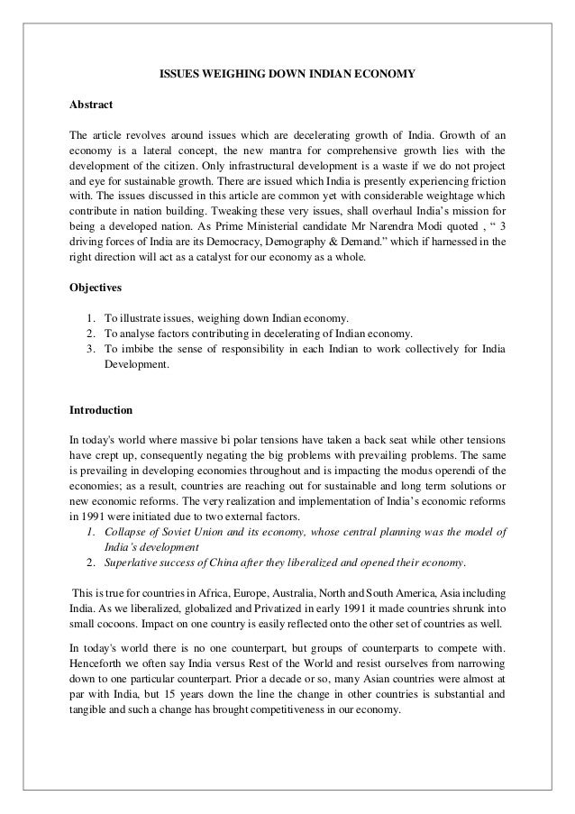 Essay On Economic Planning In India