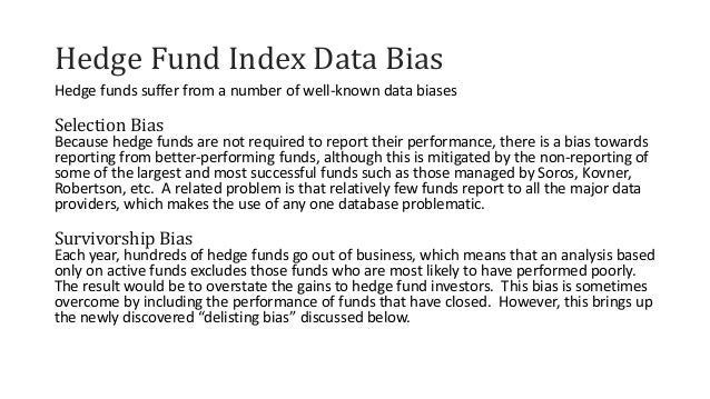 Issues with hedge fund performance