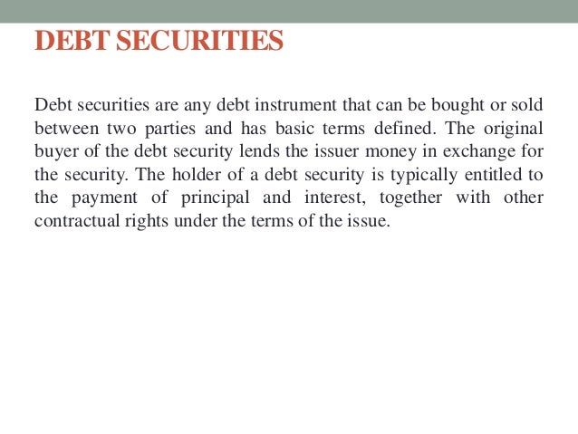 issuing securities procedure and regulations