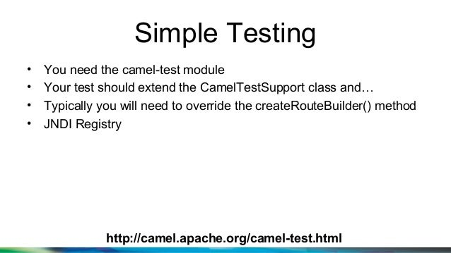 Testing applications using apache camel malvernweather Images