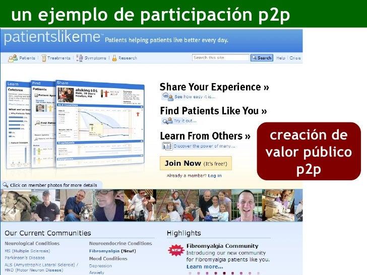 un ejemplo de participación p2p creación de valor público p2p