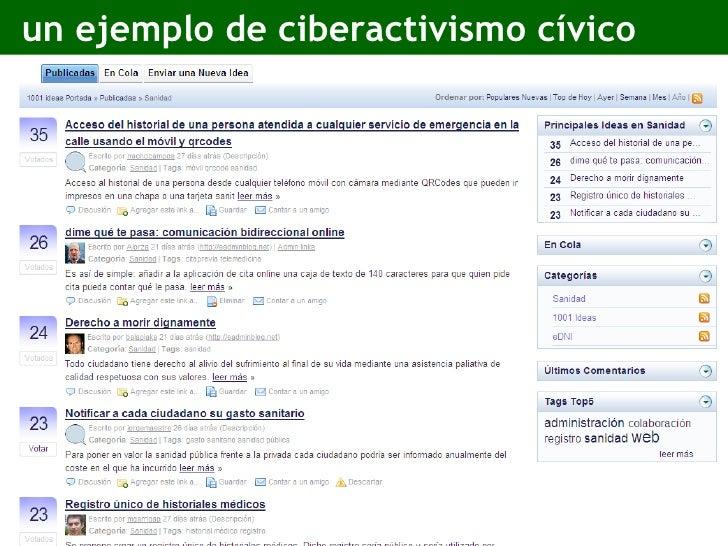 un ejemplo de ciberactivismo cívico