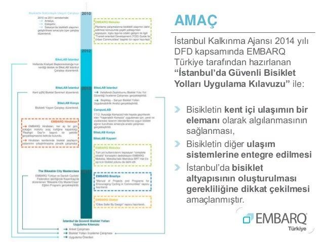 """AMAÇ İstanbul Kalkınma Ajansı 2014 yılı DFD kapsamında EMBARQ Türkiye tarafından hazırlanan """"İstanbul'da Güvenli Bisiklet ..."""