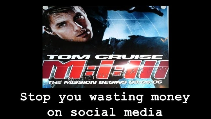 Stop you wasting money on social media