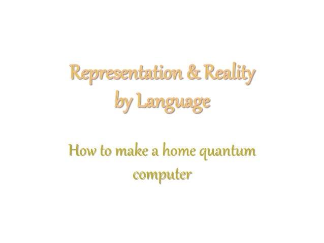 How to make a home quantum computer