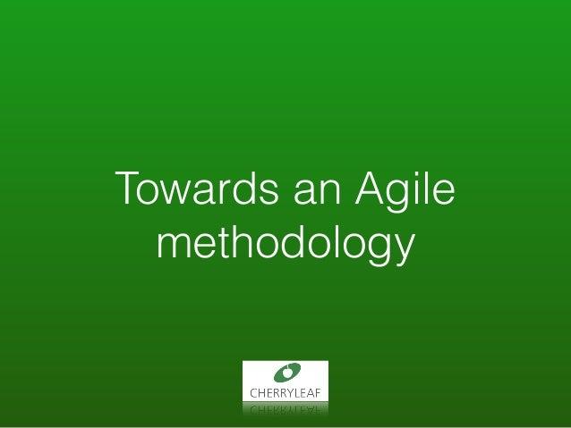 Towards an Agile methodology