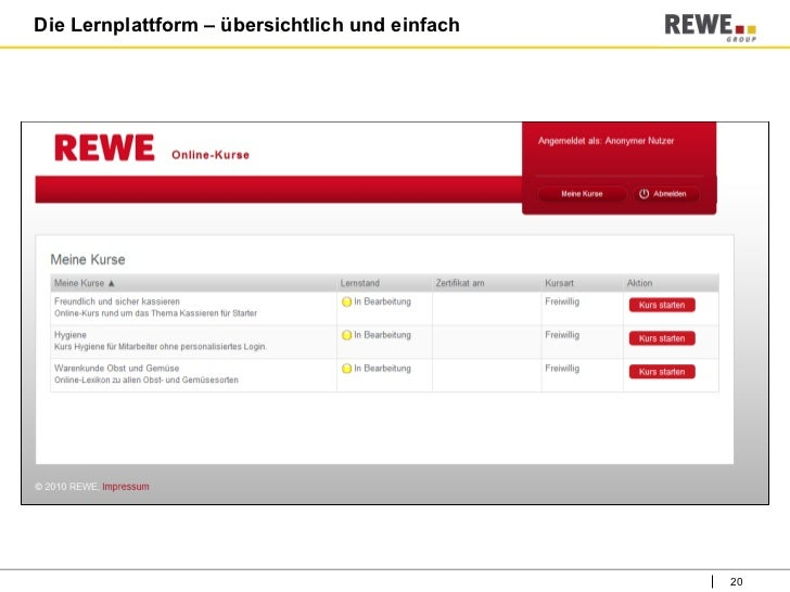 E Learning Rewe
