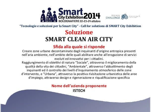 """""""Tecnologie  e  soluzioni  per  la  Smart  City""""  -  Call  for  solutions  di  SMART  City  Exhibition  Soluzione  SMART ..."""