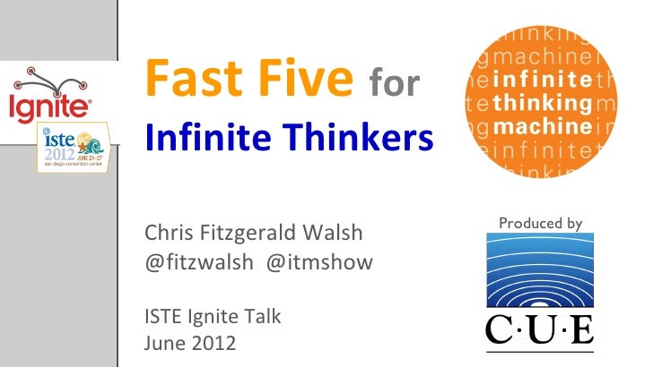 Fast Five forInfinite Thinkers                         Produced byChris Fitzgerald Walsh@fitzwalsh @itmshowISTE Ignite Tal...