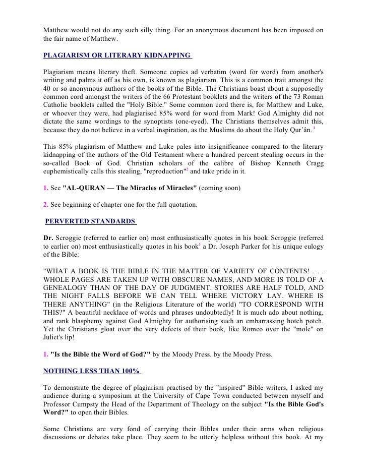 Is The Bible Gods Word Ahmed Deedat