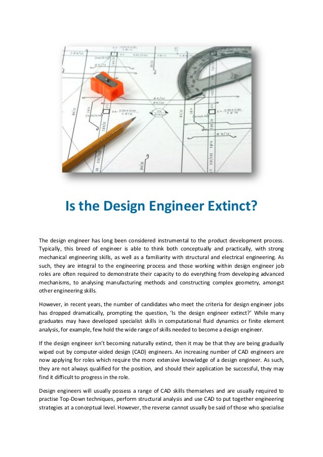 Is The Design Engineer Extinct