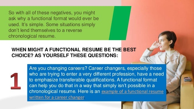 when to use a functional resumes