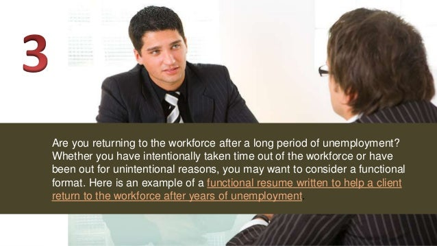 when to use or not use a functional resume format