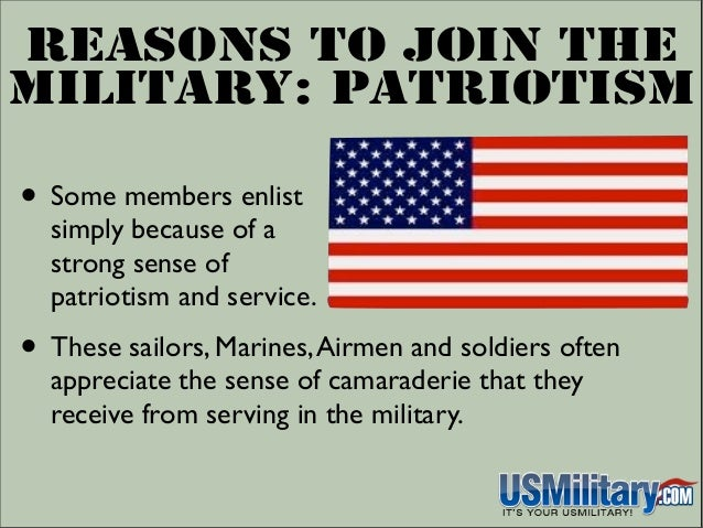 reasons to join the military