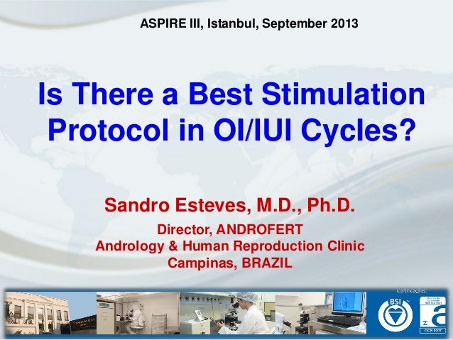Is There a Best Stimulation Protocol in OI/IUI Cycles? Sandro Esteves, M.D., Ph.D. Director, ANDROFERT Andrology & Human R...
